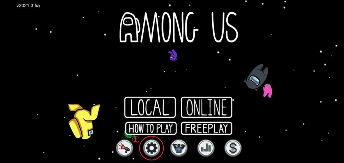 「Among Us」 言語設定画像1